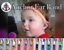 Hearing Aid Heaband - Adjustable Length - Clear Silicone Sleeve - Non Slip Grip - for all ages and activities.
