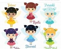 ON SALE - Fairy Dress-up / Fairies Clip Art / Digital Clipart - Instant Download