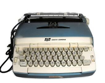 Hold for Kayla!!  Vintage Smith Corona Typewriter - Not working, Turns on and needs ribbon, Mid Century Typewriter, Retro Typewriter,