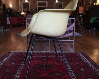 Yellow eames chair Etsy