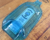 Melted Liquor Bottles - Bombay Gin - Great Bar Decor, Wall Hanging or Cheese Tray