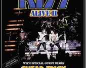 KISS Band KISS Alive II L.A Forum Display Aug 26, 1977 1st Night Show Counter-Top Stand-Up Display Gift Idea Kiss Collectibles kiss76