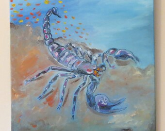Scorpion Original Painting- Artwork 16x20 Insect