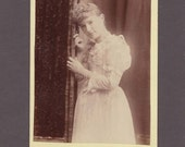 Cabinet Card of a Pretty Young Woman Bathed in Light