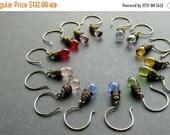 VALENTINE SALE BRONZE Earrings. Rainbow Earring Set. Seven Earrings for the Price of Six. Dangle Earrings. Wire Wrapped Teardrop Earrings. H