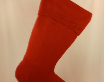 Christmas Stocking//Wool//Felt//Felted Wool//Red Stocking//Lambswool//Recycled//Repurposed 158