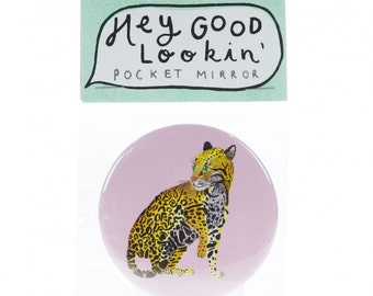 Leopard pocket mirror