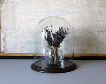 Vintage glass display cloche, wedding decor, cottage chic decor