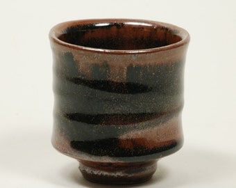 Tenmoku glazed cup (yunomi)