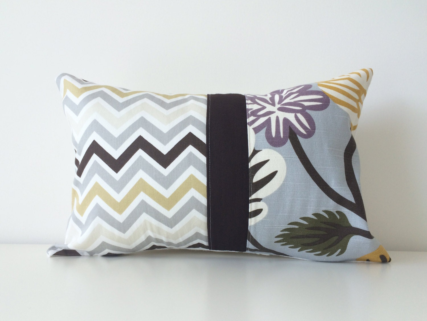 Modern Lumbar Pillows : Patchwork Pillow Cover Modern Decor Lumbar 12x18 Inches