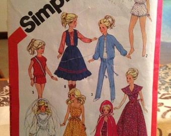Barbie Brook Shields Darice Dolls Clothes Wardrobe Pattern*FREE SHIPPING