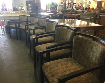 On sale now! Set Of 6 fabulous Knoll armchairs