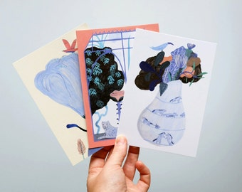 Set of 3 postcards // The second jungle // Illustration
