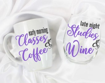 College student gift - Custom colors - college student - Set of 2