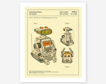 ROBOT PATENT 1985 (Giclée Fine Art Print/Photo Print/Poster Print) Stanley