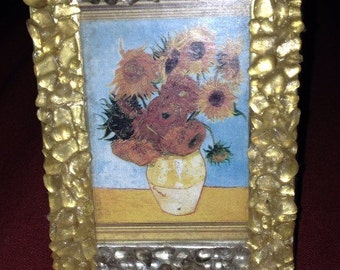 Beach Sea Glass Picture Frame 3 x 4 Yellow and Gray Glass
