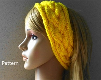 PDF Pattern, How To Knit A Braided Headband
