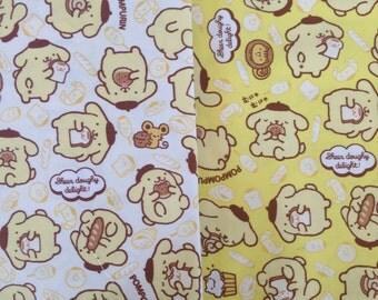 SANRIO Pom Pom Purin Pudding / Japanese Fabric 110cm x 50cm