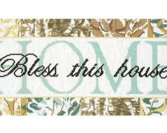 Bless This House Cross Stitch Kit - Design Works 2473