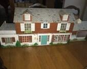 1950's tin doll house;