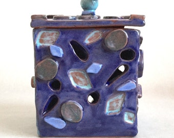 SALE! Lidded Art Pottery Box-SPECTACULAR!!