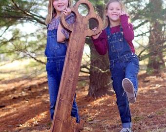 Giant Skeleton Key- Wood Skeleton Key - Wall Key - Four Foot Decorative Key