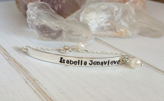 Name Bar bracelet, Sterling silver bar bracelet, Personalized ID Bracelet, Custom Name Bracelet, ID Bracelet, Adult or childrens bracelet