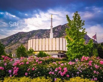 Provo LDS Temple Photograph - Digital Download - Printable
