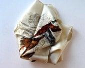 "Vintage Abercrombie & Finch, KREIER, Made in Switzerland, 26"" x 26"", Pheasants, hand rolled hem, Woman's Accessory, gift idea"