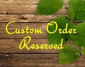 Reserved for RUSTY PENNY Wood & Brass Noteholder