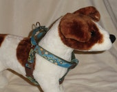 Custom adjustable martingale harness all sizes made to order. YOU pick fabric and nylon color