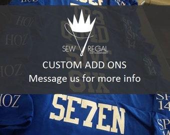 Custom Add ons Listing