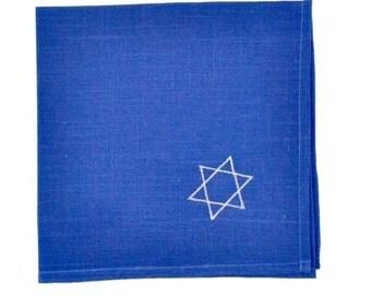 Hanukkah Napkins | Embroidered Linens | Star of David