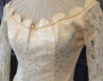 40s Lace Wedding Dress for Upcycle ReVamp