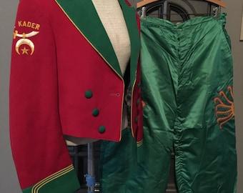 Vintage Shriners Band Uniform Suit