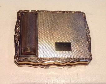 Vintage Stratton  Compact Mirror and Lipstick  Holder