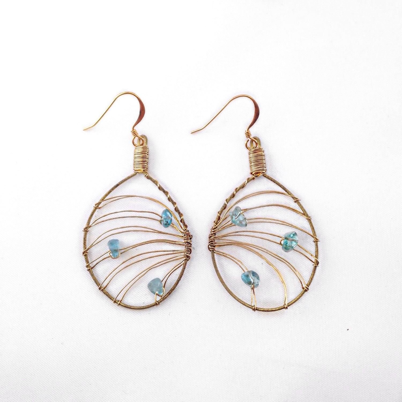 guitar string jewelry handmade gemstone earrings with. Black Bedroom Furniture Sets. Home Design Ideas