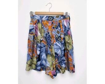 Tropical 90s highwaist cotton shorts small