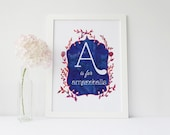 A is for Amazeballs - signed Sarcastic Alphabet print