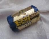 Vintage Lily Brand Gold Metallic Mylar Tinsel Flat Non-Tarnish Thread Sewing - Whole Spool