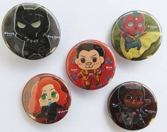 Team Ironman Civil War Buttons