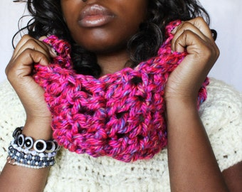Ready To Ship! Chunky One Handmade Crochet Infinity Scarf. Only 1 Available!