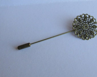 Filigree Hat Pin Cabuchon