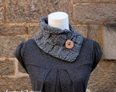 Knitting pattern - button collar neckwarmer - Listing146