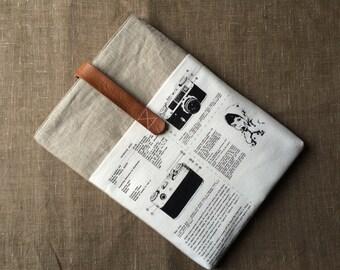 "13 inch macbook PRO / - Retina case, macbook sleeve cover, laptop bag with front pocket - ""Vintage_camera"""