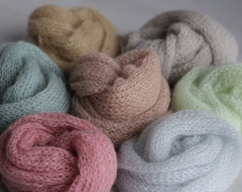 NEW COLOURS !!!! Knit mohair wrap Newborn wrap Newborn photography props Blanket Stretch knit newborn wrap Newborn mohair wrap Photo props