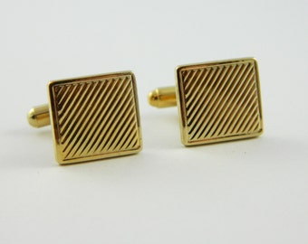 Diagonal Etched Cuff Links - CL026