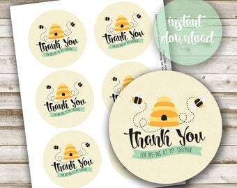 "Mommy to Bee: 3"" Matching Favor Tags"
