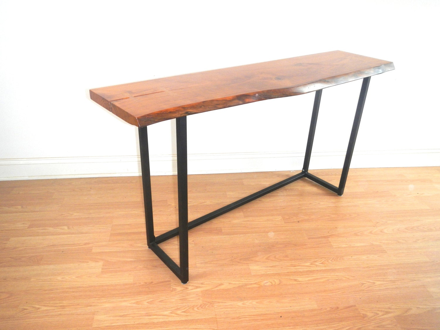 Console table live edge console hall table sofa table for Table or table
