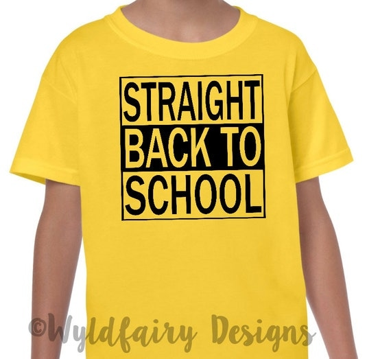 Kids Back To School Graphic Tee Custom T Shirt By